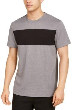 Alfani Men's Colorblocked Ottoman Stripe T-Shirt, Created for Macy's