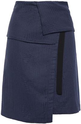 Vanessa Bruno Grosgrain-trimmed Woven Mini Wrap Skirt