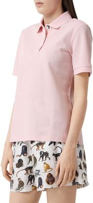 Burberry Malleco TB Monogram Cotton Pique Polo Shirt