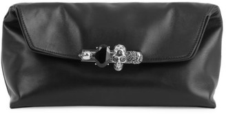 Alexander McQueen Skull Four-Ring Leather Pouch