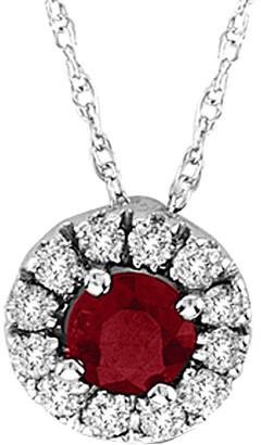 Suzy Levian Diamonds Suzy Levian 14K 0.48 Ct. Tw. Diamond & Ruby Pendant Necklace