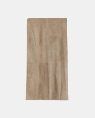 Theory Volume Skirt in Suede