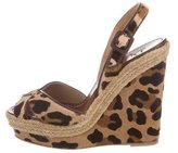 Christian Louboutin Tigresse 120 Leopard Print Wedges