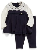 Armani Junior Infant Girl's Long Sleeve Top & Leggings Set