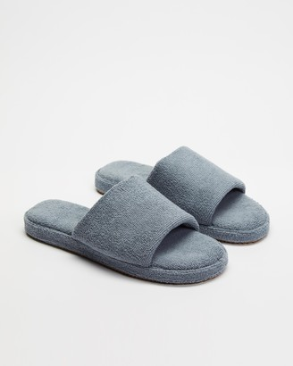 Staple Superior - Grey Sandals - Ibiza Terry Towelling Slides - Size M8/W10 at The Iconic