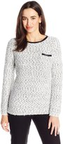 Calvin Klein Women's Eyelash Crew Neck Sweater