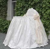 The Well Appointed House Lulla Smith Stella Dupioni Silk Bassinet-Available in a Variety of Colors