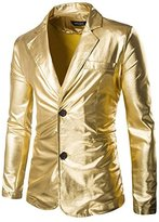 Mada Men's Slim Fit Metallic Color Performance Suit Jackets Asian X-Large