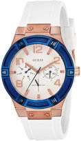 GUESS GUESS? W0564L1 39mm Stainless Steel Case White Rubber Mineral Women's Watch