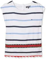 Tommy Hilfiger Girl's Embellished Rayon Stripe Top S/S Vest