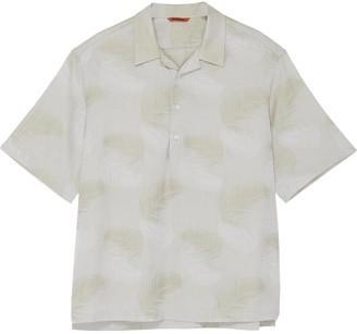 Barena 'Mola Palma' palm leaf print collar shirt
