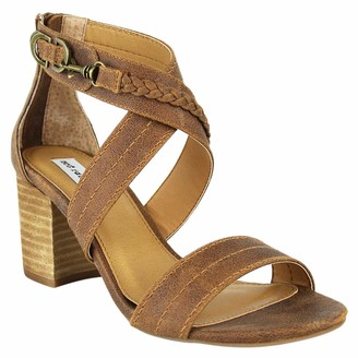 Not Rated Qila Heeled Sandal with Criss Cross Straps and Braided Detail