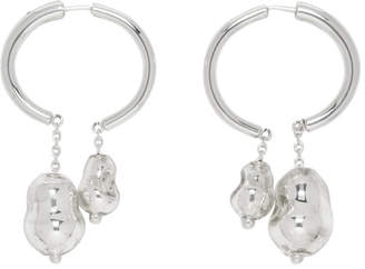 Lemaire Silver Blown-Glass Creole Earrings