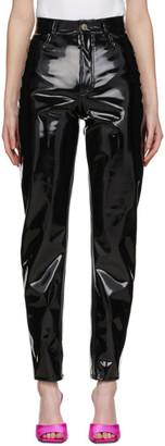 ATTICO Black Vinyl Dua Trousers