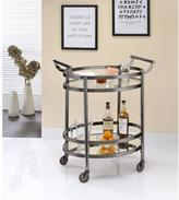 ACME Furniture Lakelyn Clear Glass and Black Nickel Serving Cart