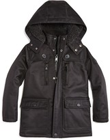 Urban Republic Boys' Faux Fur Lined Ballistic Parka - Little Kid