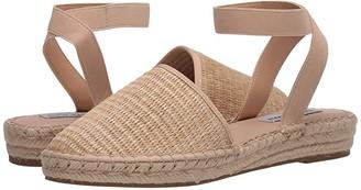 Steve Madden Merlene Espadrille Flat (Natural Raffia) Women's Shoes