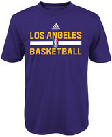 adidas Boys' Los Angeles Lakers Practice Wear Graphic T-Shirt