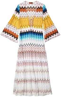 Missoni Mare Long Cover-Up Dress w/ Side Slits (Multi) Women's Swimwear