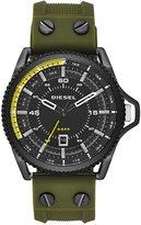 Diesel Men's Rollcage Green Silicone Strap Watch 45x50mm DZ1758