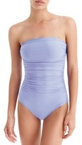 J.Crew Women's Ruched One-Piece Bandeau Swimsuit