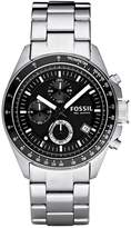 Fossil Decker Chronograph Watch Silvercoloured