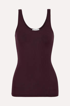 James Perse The Daily Ribbed Stretch-supima Cotton Tank - Burgundy