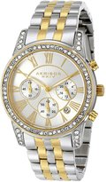 Akribos XXIV Women's AK587TTG Ultimate Crystal Chronograph Stainless Steel Bracelet Watch