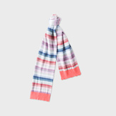 Paul Smith Girls' 7+ Years Cashmere-Blend 'Pastel-Stripe' Scarf