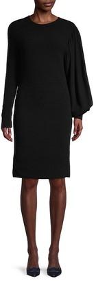 Akris Textured Bishop Long Sleeves Dress