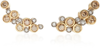 Ruth Grieco 18K Gold and Diamond Stud Earrings
