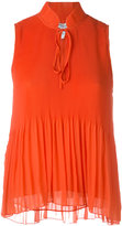 Derek Lam 10 Crosby sleeveless pleated top - women - Polyester - 4