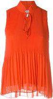 Derek Lam 10 Crosby sleeveless pleated top - women - Polyester - 8