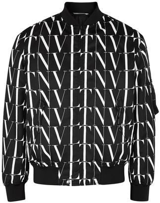 Valentino VLTN Times printed nylon bomber jacket