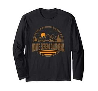 Vintage Monte Sereno California Mountain Hiking Print Long Sleeve T-Shirt