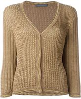Alberta Ferretti three-quarter sleeve cardigan - women - Cotton/Polyester/Rayon - 44