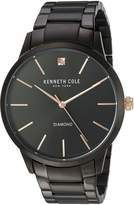 Kenneth Cole New York Men's 'Diamond' Quartz Stainless Steel Dress Watch, Color: (Model: 10031279)