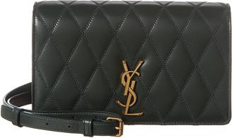 Saint Laurent Angie Diamond Quilted Leather Shoulder Bag