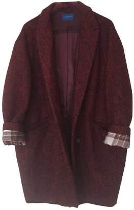 Strenesse Blue \N Burgundy Wool Coat for Women