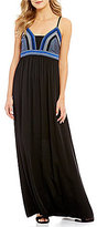 Gianni Bini Ember Embroidered Maxi Dress