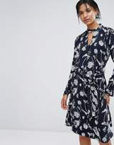 Just Female Hamie Print Wrap Dress