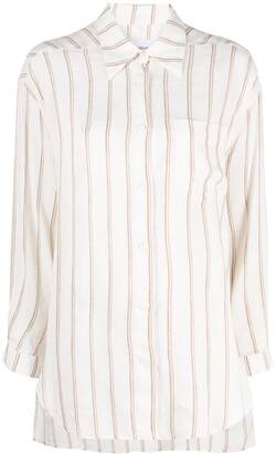 Dondup Stripe-Print Button-Up Shirt