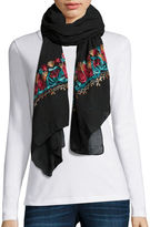 Asstd National Brand Flower Embroidered Scarf