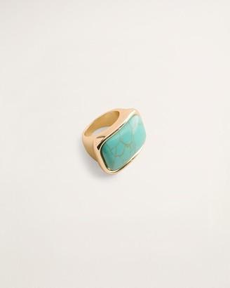 Chico's Aqua-Hued Howlite Ring