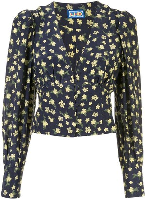 Lhd Roadhouse ditsy floral print blouse
