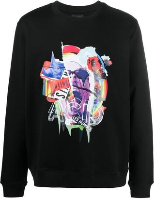 Les Hommes Graphic-Print Cotton Sweatshirt