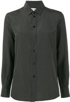 Saint Laurent Polka Dot Shirt - women - Silk - 34