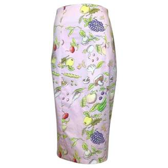 Olympia Le-Tan Olympia Le Tan \N Pink Cotton Skirt for Women