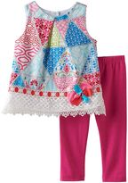 Rare Editions Baby Girl Geometric Tunic & Solid Leggings Set