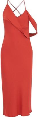 Mason by Michelle Mason Open-back Draped Cady Midi Dress